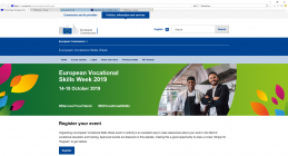 Registration of events/activities associated with the European Vocational Skills Week 2019